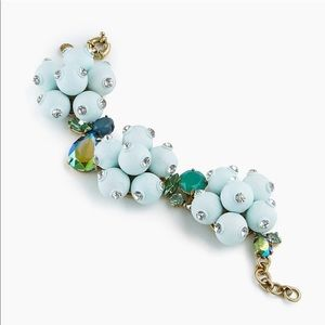 J. CREW Pop Crystal Bracelet Blue Bauble Cluster